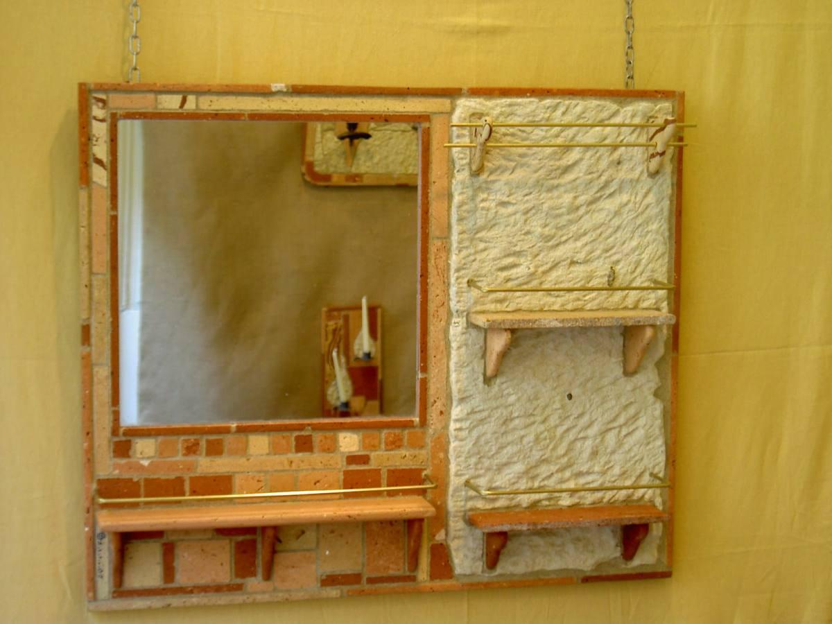 consolle da muro con specchio
