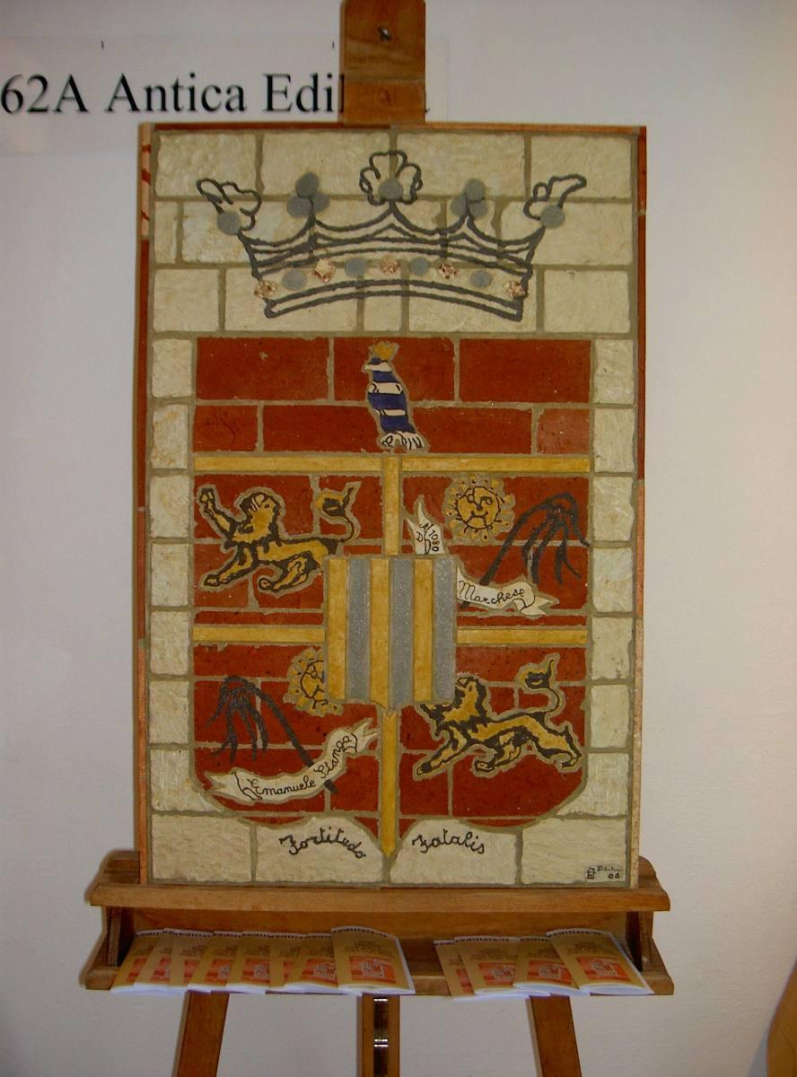 pannello stemma araldico di famiglia