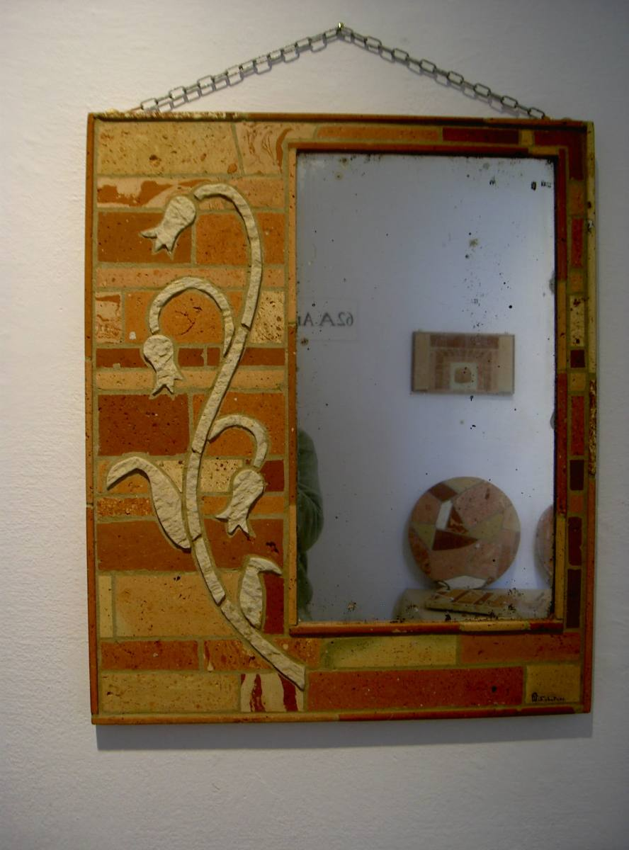 specchio con decoro campanelle