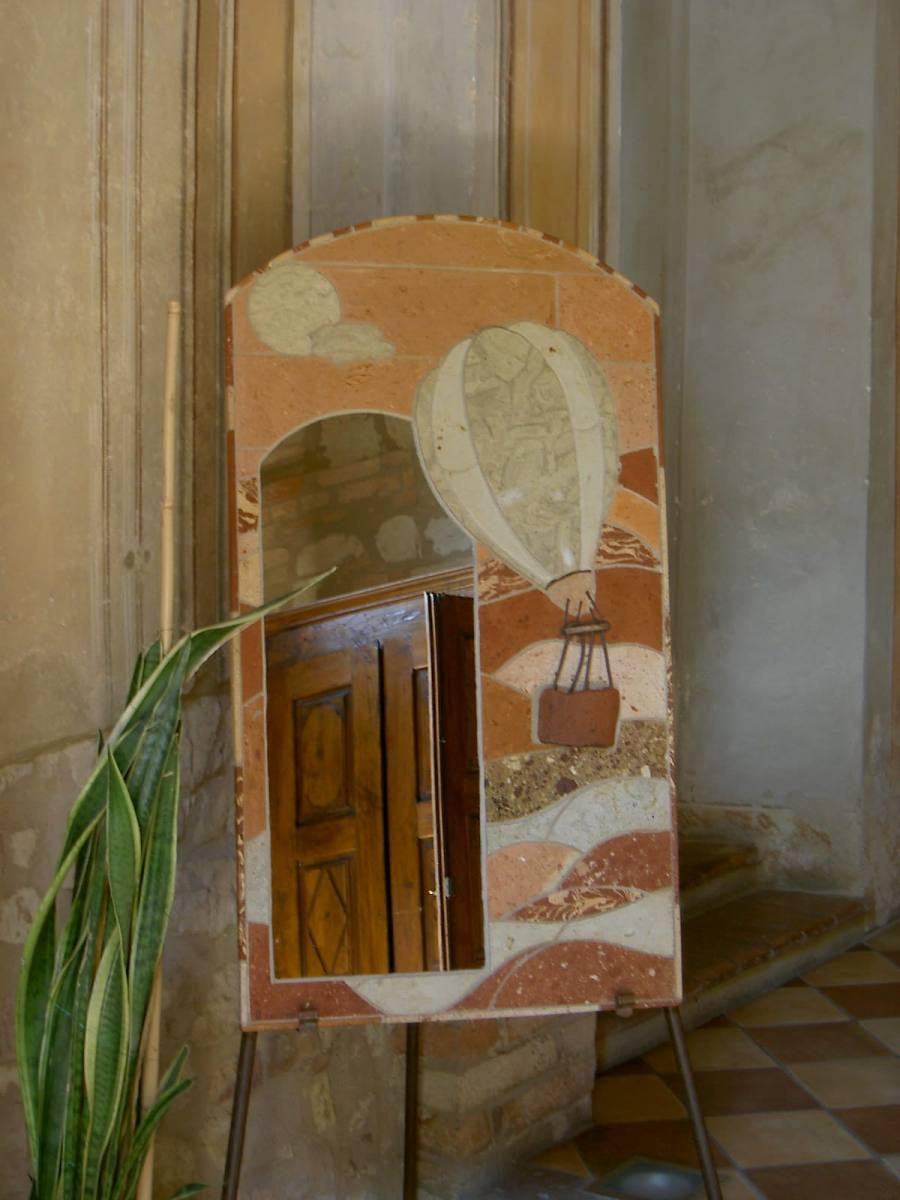 specchio con mongolfiera